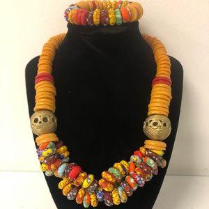 Necklace with bracelet